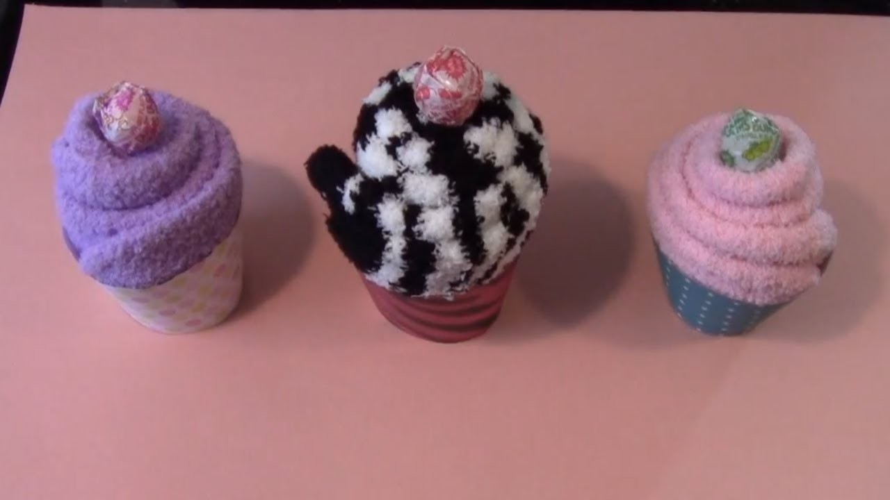 Simple Crafts: Cozy Sock Cupcake w.Rebsraggs episode 3
