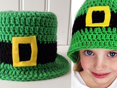 St Patrick's Day Hat Free Crochet Pattern - Left Handed