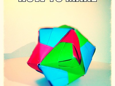 Super Easy Origami Ball For Beginners