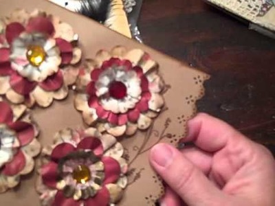 Vintage style Flowers made from Scrapbook paper