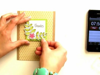 10 Minute Craft Dash #14 {featuring Blissful Botanicals by Lawn Fawn}