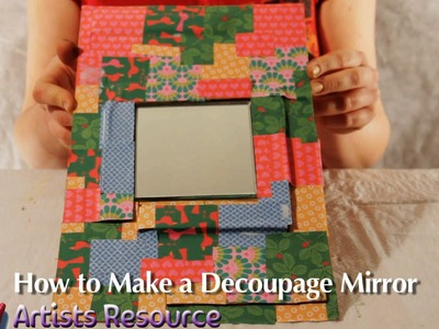 Christmas Craft! How to Make a Decoupage Mirror - perfect gift idea!