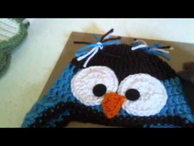 Crochet Baby Earflap Beanie & Pear Coasters