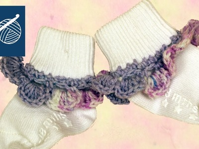 CROCHET BABY SOCK EDGING - Left Hand Crochet Geek