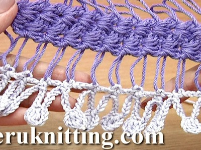 Crochet Fringe On Basic Hairpin Strip Tutorial 32 Developing Basic Strip With Additional Crochet
