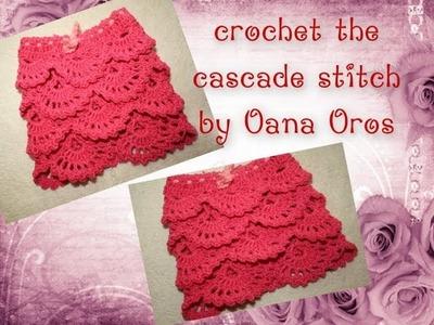 Crochet the cascade stitch
