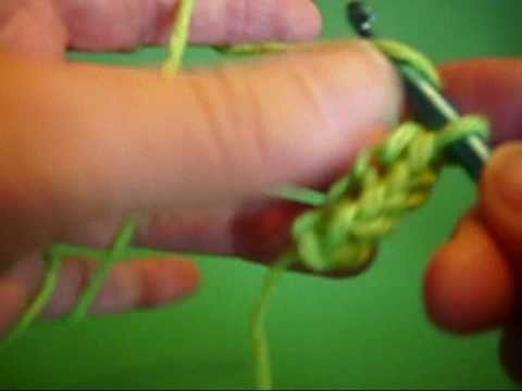 Crocheting a double chain aka foundaition slip stitch