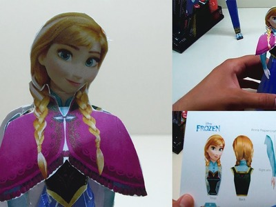 Disney's Frozen Anna Papercraft How to Make a Papercraft Full Movie