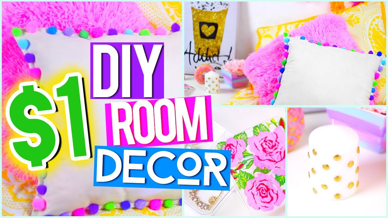 DIY $1 ROOM DECOR ♥ Tumblr Pinterest Inspired