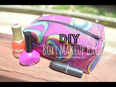 DIY Boxy Makeup Bag (Highly Requested)