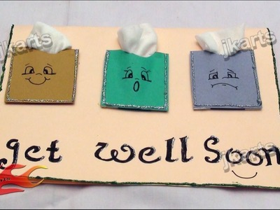 DIY Get well soon Greeting Card JK Arts 178