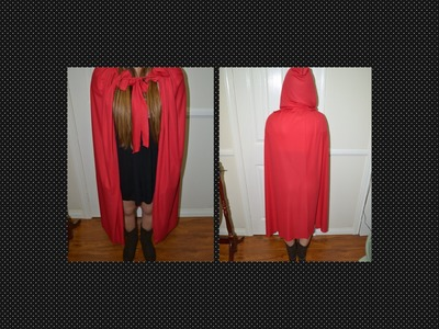 DIY ✿ HOODED RED CAPE FOR HALLOWEEN (NO-SEW & MEASUREMENTS INCLUDED) LAST MINUTE IDEA