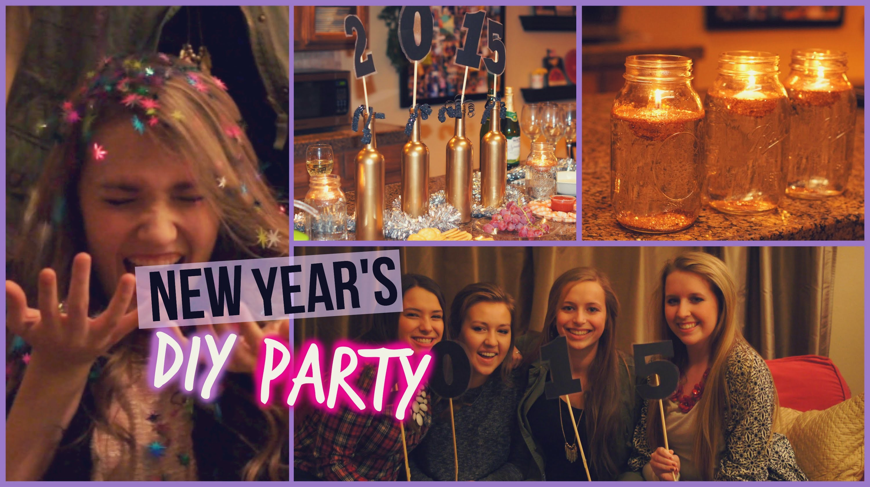 DIY New Year's Party: Snacks & Decorations!