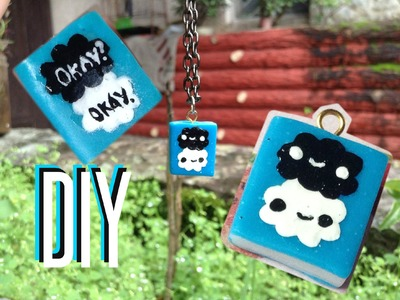 DIY:Okay okay.kawaii book charm (polymer clay)