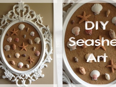 DIY Seashell art (featuring the UNG Drill Frame seen on Pretty Little Liars!)