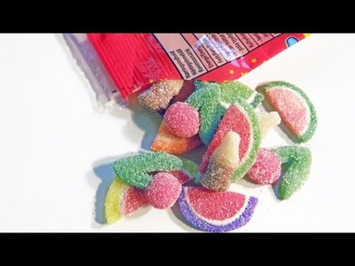 DIY Sour Cola, Sour Cherry, Wedges Candy Gummy Polymer Clay Tutorial