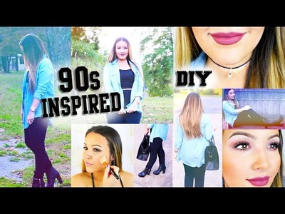 Easy 90s Makeup, Outfit, & DIY Choker Necklace