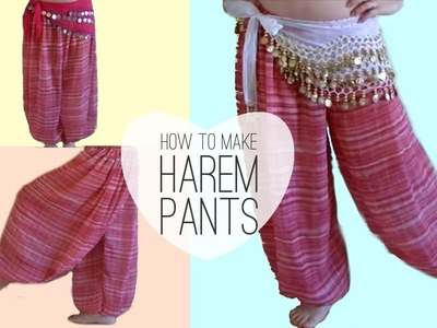 Easy Belly Dancer Harem Pants DIY - Princess Jasmine Style