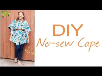 GLITTER 'N GLUE: DIY No Sew Blanket Cape
