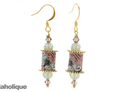How to Apply Collage Images to Nunn Design Channel Bead Cores and Make An Earring