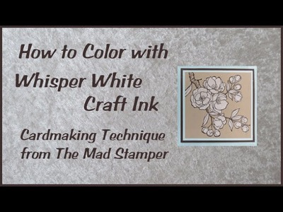 How to Color with Whisper White Craft Ink