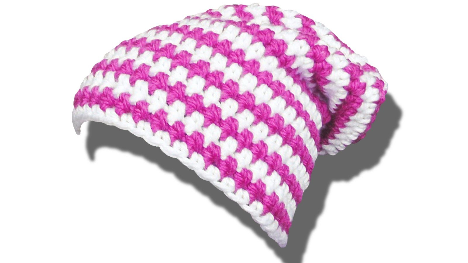 How to crochet a long beanie color change - © Woolpedia