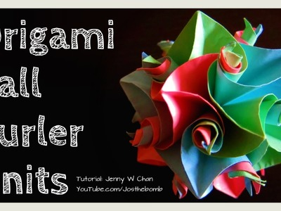 How to Fold Origami Ball - 12 Curler Units Flower Cuboctahedron - Kususama - DIY Gift Idea