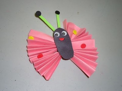 How to make a construction paper butterfly - EP