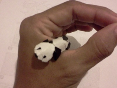 How to make Origami Panda (Jacky chan)