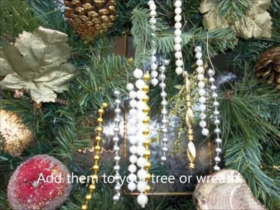 How to make really easy Beaded  ornaments for your Christmas tree or wreaths