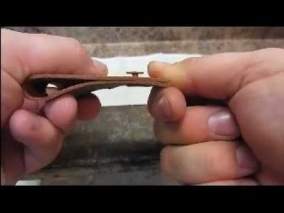 How to Rivet Leather for Binding