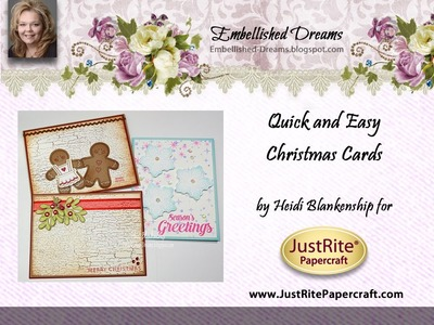 JustRite Papercraft with Heidi Blankenship Quick and Easy Christmas Cards