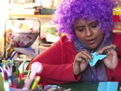 "Learn to make a Paper Butterfly with ""Arty Crafty Aunty""  ""Creative Hindi Origami"""