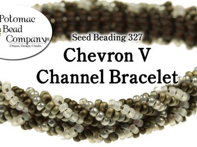 Make a Chevron V Channel Bracelet