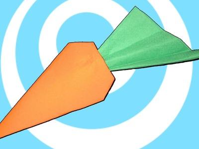 Napkins Origami Carrot Instructions