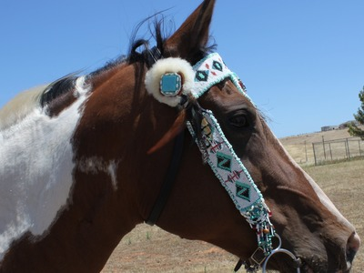 Native American Inspired Beaded Bridle