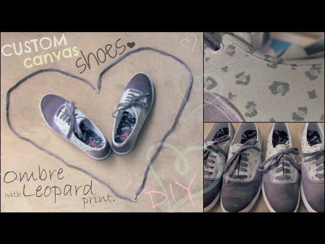 Ombre Shoes - How To - Hand Painted with Leopard Print