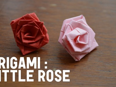 Origami: How to Make a Little Rose