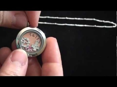 "Origami Owl: How To Create a Medium ""Living Locket"""