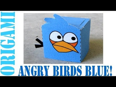 Popular Craft Projects - 014: Angry Birds Blue Paper Toy (Box Figure) - TCGames [HD]