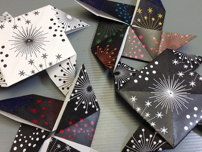 Print Your Own Colorful Fireworks Origami Paper