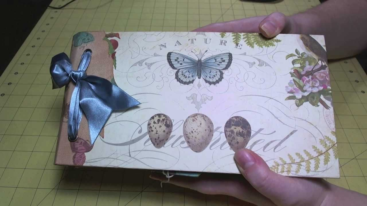 "Scrapbook Album: Completed ""Flora & Fauna"" Paper Bag Album"