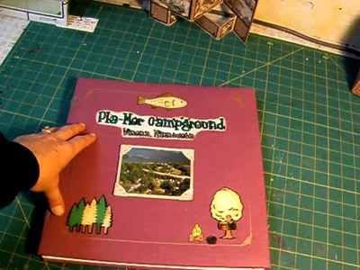 Scrapbook cover decorating-Marion Smith's 31 Day Challenge Day 29
