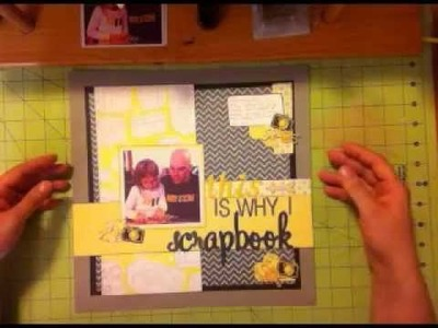 Scrapbook Layout Process Video This is why I Scrapbook