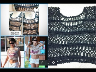Selena Gomez Crochet Crop Top Look A Like