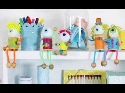 Spool Monster Halloween Crafts for Kids