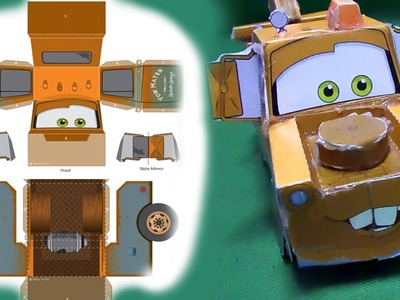 Tow Mater 3D Papercraft, How to Make Disney Pixar Tow Mater Papercraft, Tow Mater Awesome Papercraft