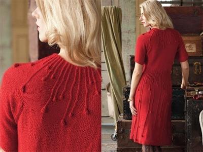 #2 Rain Drops Dress, Vogue Knitting Holiday 2010