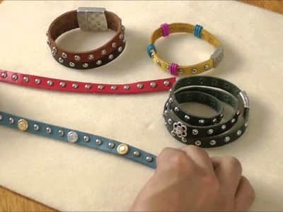 Antelope Beads - Studded Flat Leather Overview and Design Tips