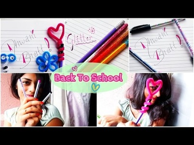 Back To School ♡ DIY Custom Pen, Pencil Toppers & Glitter Pencil